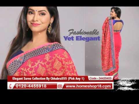 505f0948897 Homeshop18.com - Elegant Saree Collection By Chhabra555 - YouTube