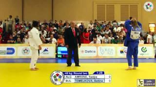 Judo World Championships Cadets Miami 2013: Amrane (ALG) - Temelkova (BUL) [-48kg]