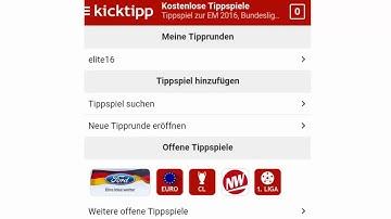 Fussbal EM App zum Tippen - Kicktipp