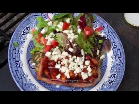Spicy Apricot Glaze Pork Chops & Balsamic Vin Salad [Recipe]