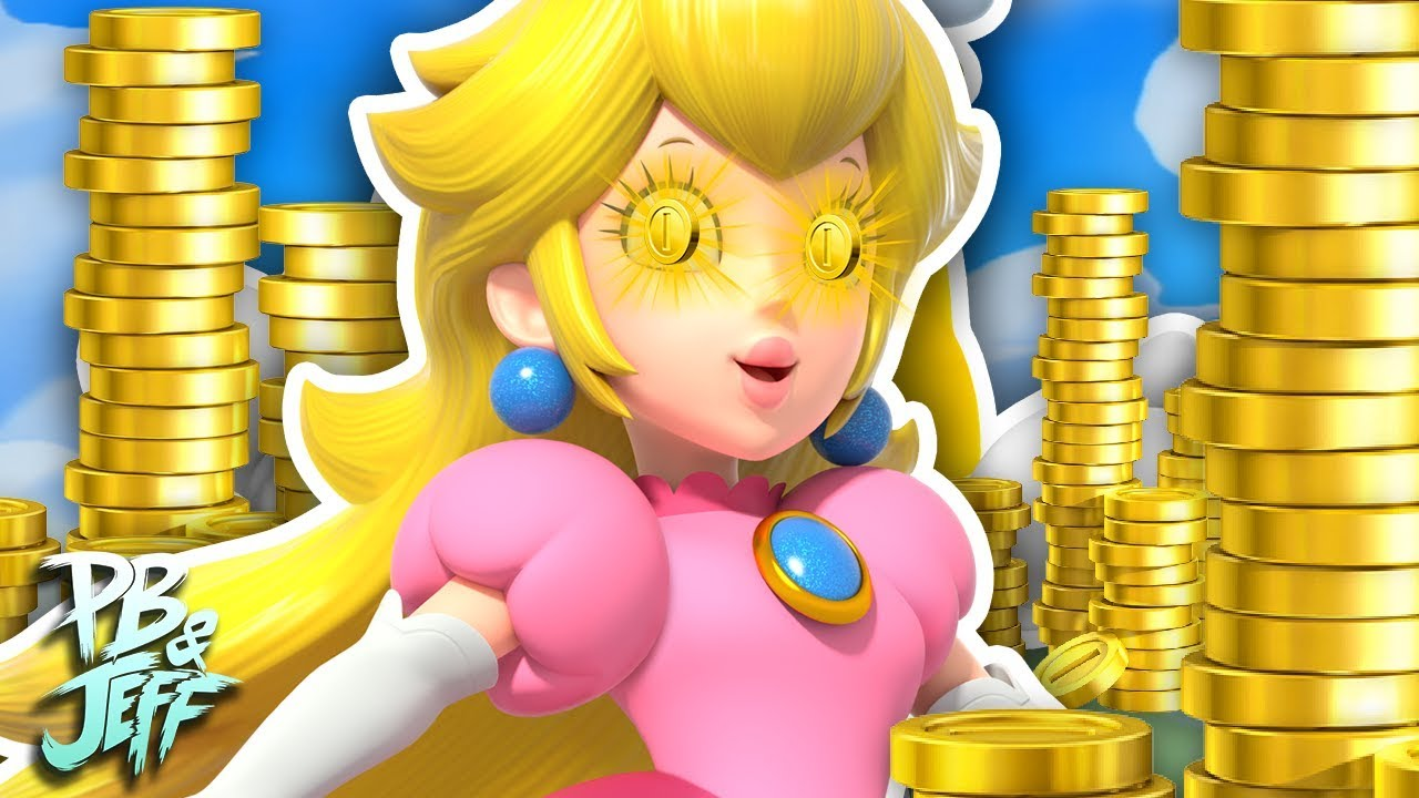 2018 SUPER MARIO PRINCESS PEACH GOLD COIN TOP,FRESH OUT OF THE PACKAGE