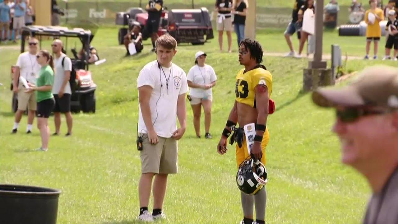 Steelers Fan Dresses Up In Uniform, Sneaks Onto Field At Training Camp