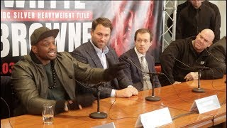 HEAVYWEIGHT BEEF!! - DILLIAN WHYTE v LUCAS BROWNE (FULL EXPLICIT) PRESS CONFERENCE W/ EDDIE HEARN