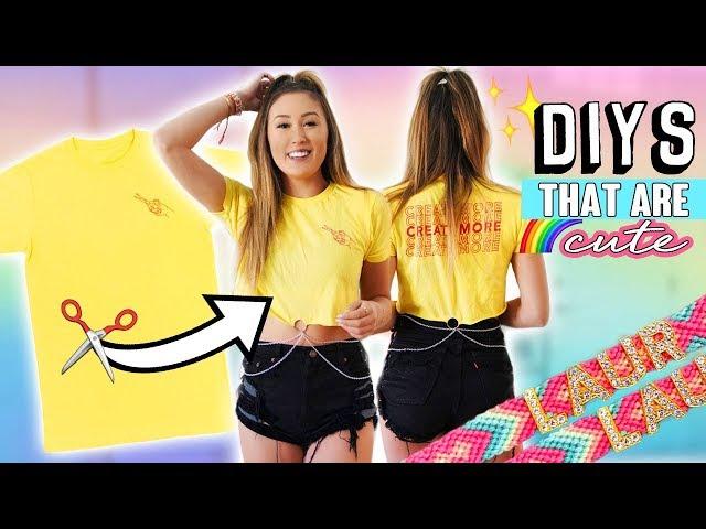 EASY CUTE DIYS: Room Decor, Friendship Bracelet + Tee Flip