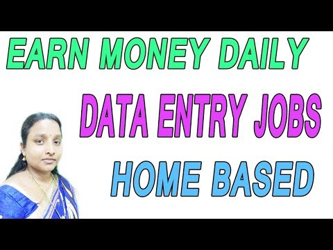EARN MONEY DAILY | DATA ENTRY JOBS | HOME BASED ONLINE IN TAMIL