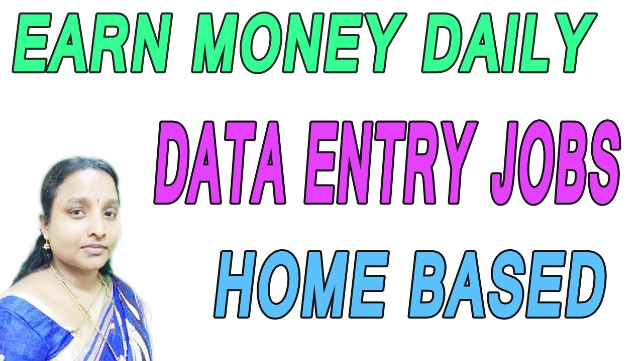 EARN MONEY DAILY | DATA ENTRY JOBS | HOME BASED ONLINE IN TAMIL ...