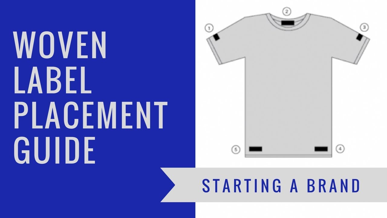 indispensable woven label placement guide youtube
