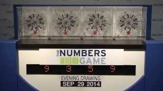 Evening Numbers Game Drawing: Monday, September 29, 2014