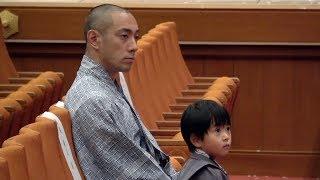 歌舞伎俳優の市川海老蔵さんと長男の堀越勸玄くんが、歌舞伎座の7月公...