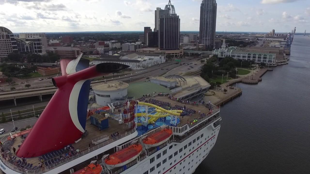 Carnival Fantasy Aerial Tour Mobile AL YouTube - Cruise ship mobile alabama