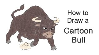 How to Draw a Bull (Cartoon)