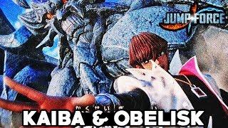 NEW KAIBA & OBELISK JUMP FORCE LEAK! Jump Force DLC Kaiba, Blue Eyes, & Obelisk Gameplay Scans