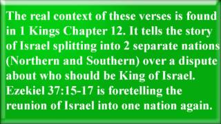 Ezekiel 37 Verses 15 to 17 - Mormonism Exposed