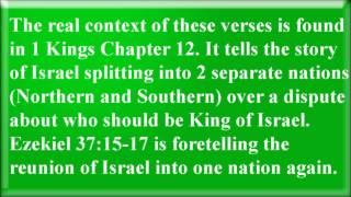 Ezekiel 37 Verses 15 to 17 - Mormonism Exposed