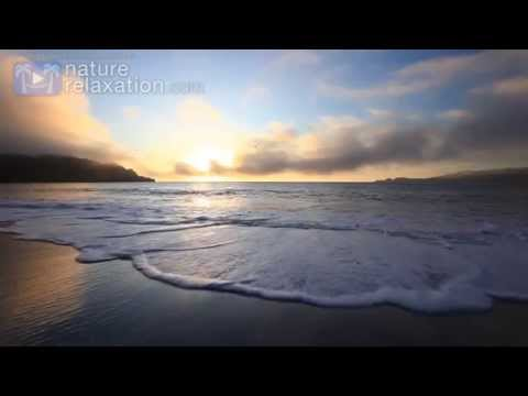 """Golden Waves Crashing"" 10 HR Screensaver Study Aid Meditation Aid Video 1080p"