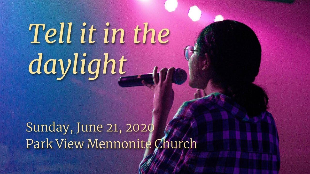 Sunday Worship Park View Mennonite Church