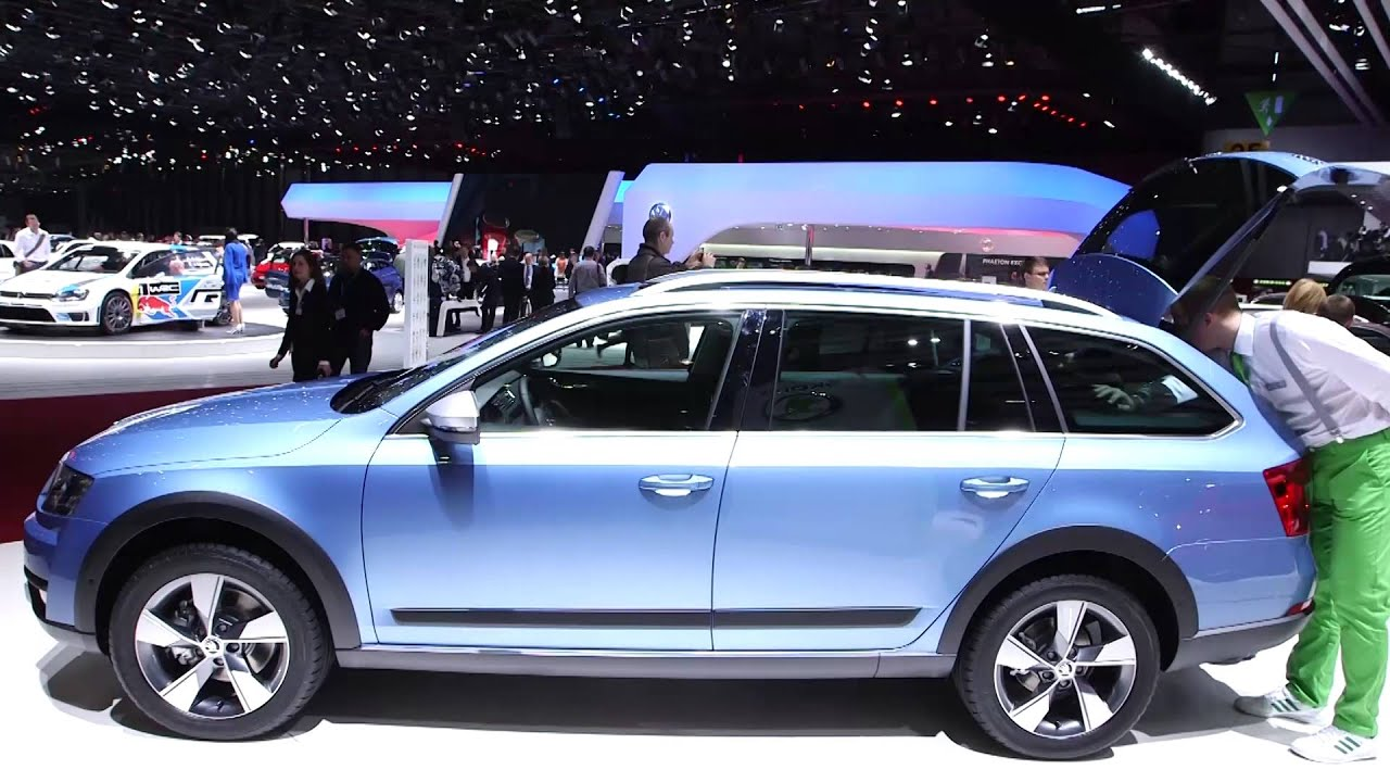 skoda octavia scout which first look from geneva motor show 2014 youtube. Black Bedroom Furniture Sets. Home Design Ideas