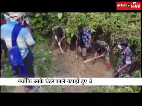 Video of Rohingya Muslims buried in grave after mass murder of Hindus in  Myanmar