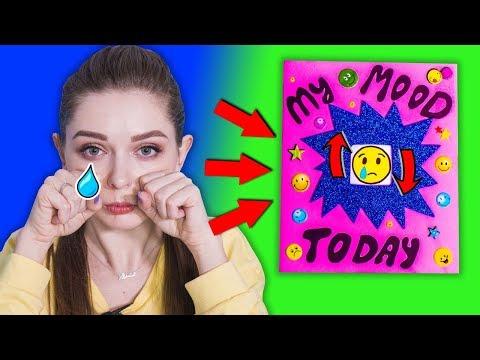 DIY Блокнот НАСТРОЕНИЯ / Меняй Emoji под настроение! Цвет настроения  ̶с̶и̶н̶и̶й̶  желтый 🐞 Afinka