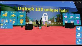 Get 110 unique hats *QUICK* Roblox unboxing simulator