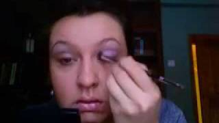 violet and green makeup (Dior Purple Cristal & Estee Lauder Sumptious Emerald) Thumbnail