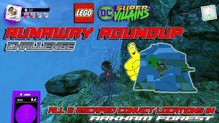 Скачать Lego DC Super Villains Runaway Roundup CHALLENGE All 6 Escaped Convicts Locations HTG