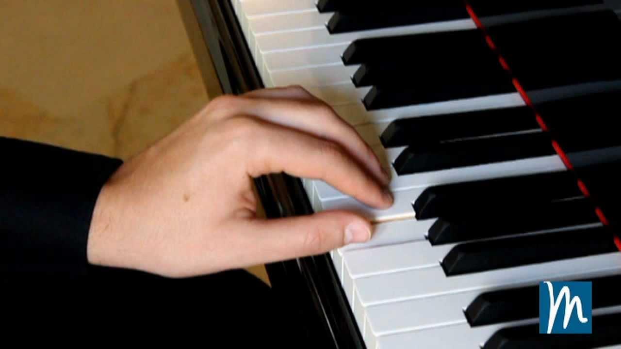 Posición de los dedos en el piano - Aprende piano con