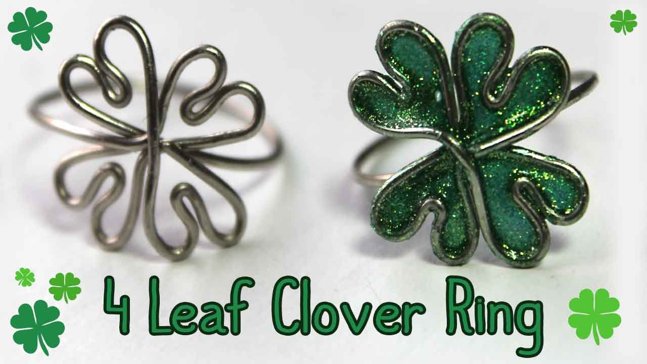 Tutorial: Four Leaf Clover Ring {Wire} 🍀 - YouTube