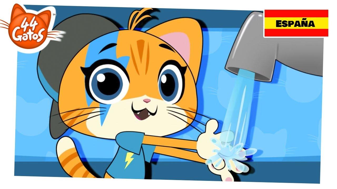 44 Gatos | ¡Aprendamos a lavarnos las manos con Lampo!