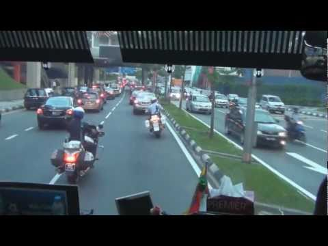To the Football Game with a Police Escort in Kuala Lumpur