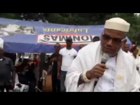 BIAFRA OR DEATH! Watch The Incredible 'Sermon' Delivered By Nnamdi Kanu At IPOB Shabbat