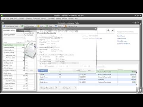 12 04 Creating Reminder Statements And Collection Letters | Quickbooks Pro 2013