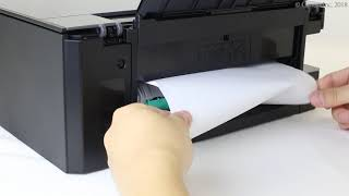 Removing jammed paper: inside rear cover (TS8200 series)