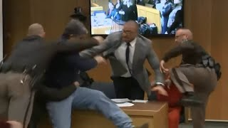 Raw Video Victim S Father Tries To Attack Disgraced Dr Larry Nassar
