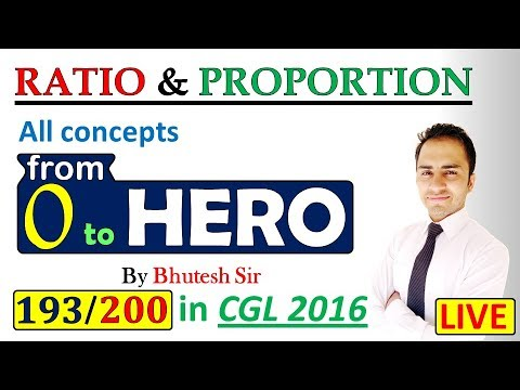 Ratio and proportion (Part-1) for SSC CGL, Bank PO, CDS and all other competitive exams