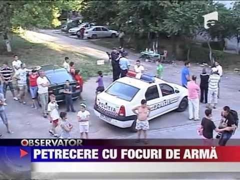 Craiova Scandal cu focuri de arma intre un grup de petrecareti si politisti 22 IUNI