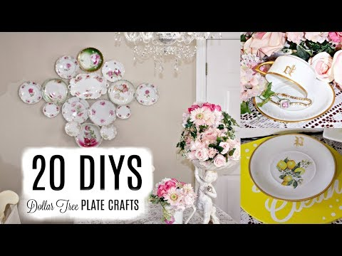 🌹20 DIY DOLLAR TREE PLATE DECOR CRAFTS 🌹 WALL COLLAGE, LEMONS, ROSES, GLAM, SUMMER