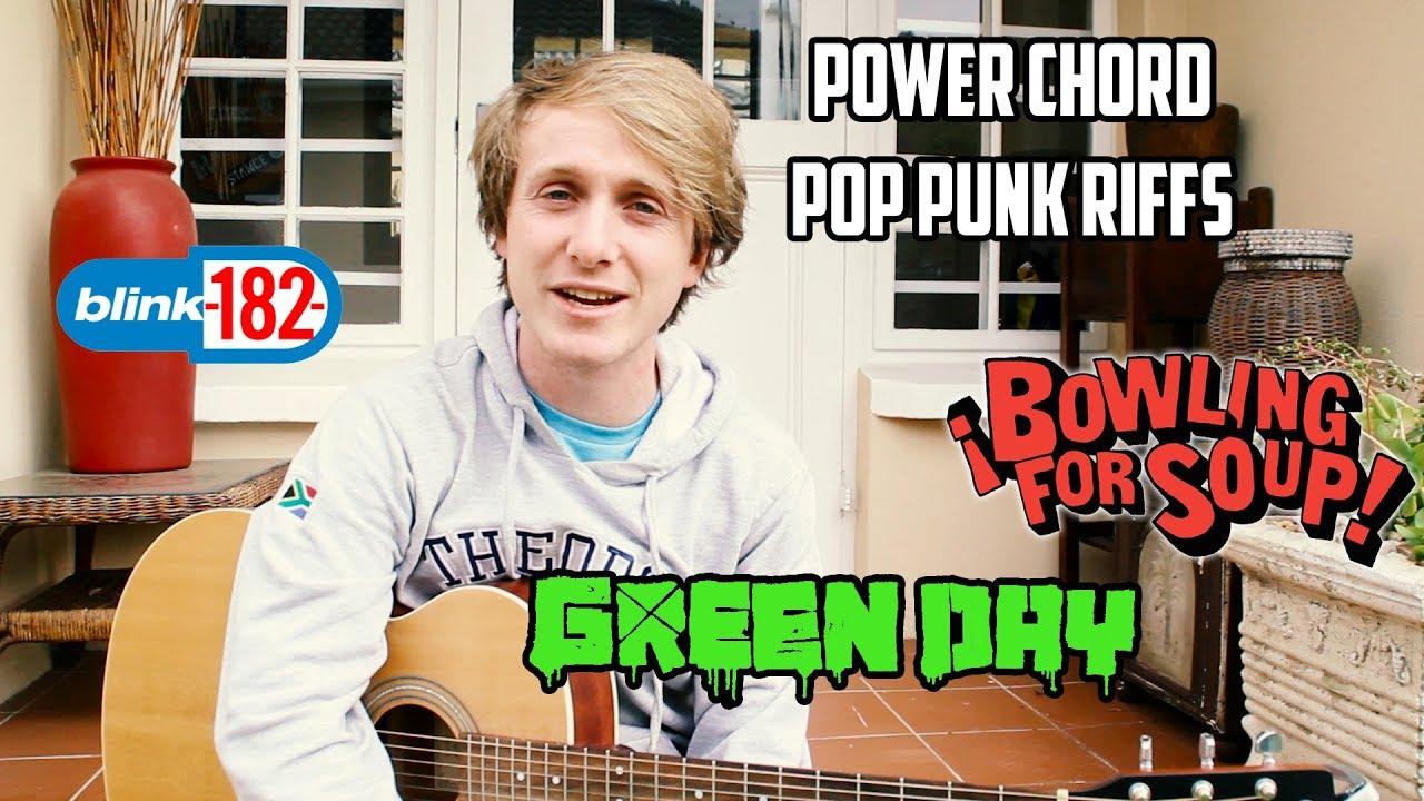 Pop Punk POWER CHORD RIFFS (Tutorial)