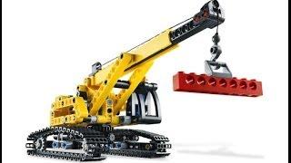 lego 9391 - Гусеничный кран -обзор
