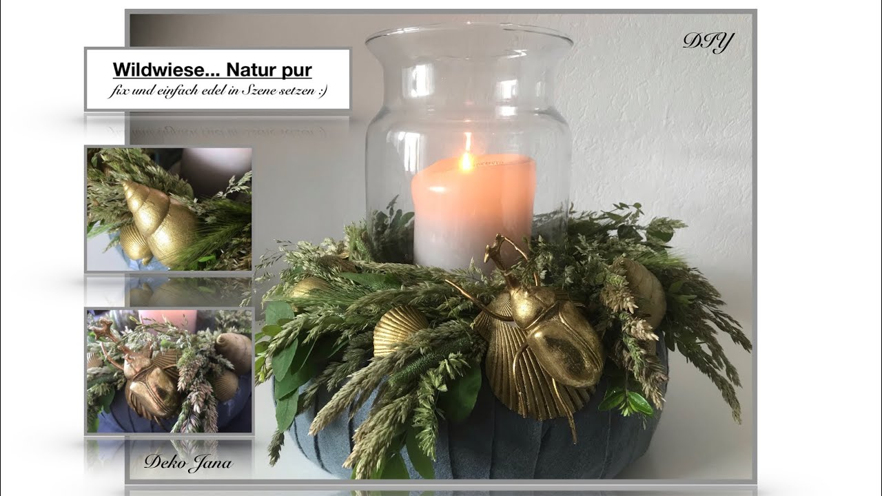 DIY: Wohn.- und Deko Idee, Natur pur, sommerlicher Tischkranz, Sommerdeko #8🐚☀️(How to) / Deko Jana