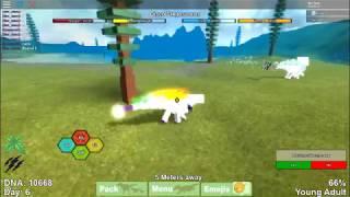 Roblox Dinosaur Simulator Disco Stegosaurus VS Snow Flake Stegosaurus