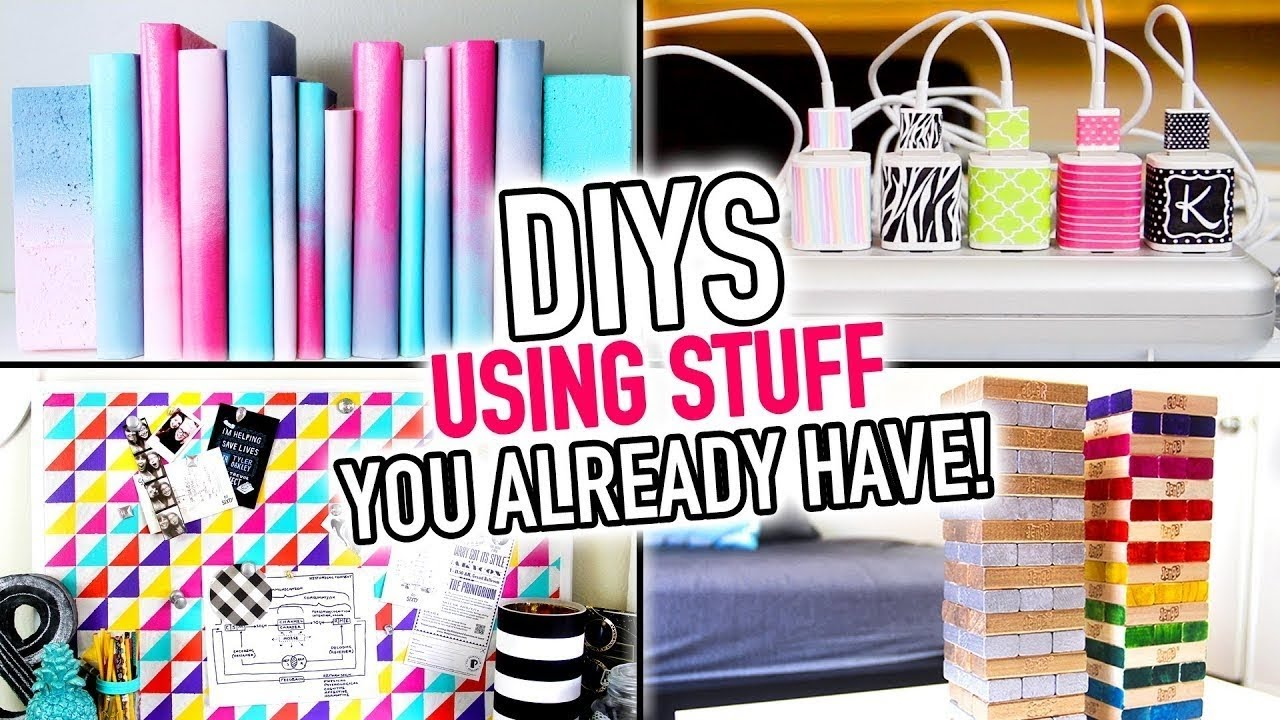 6 DIYS Using Stuff You Already Have Around Your House ...
