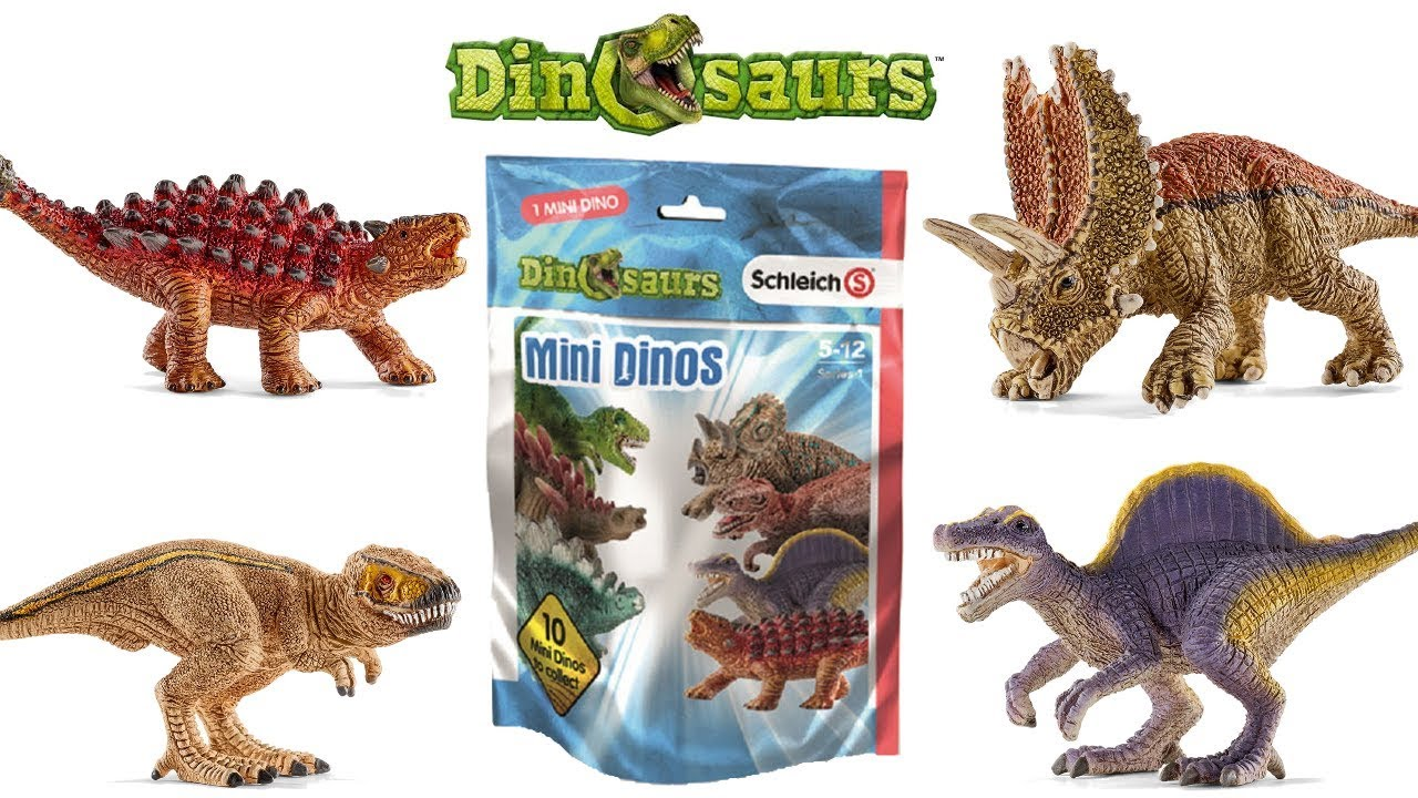 Set Of 2 Dinosaur Figures With Mini Dino Toy In Egg