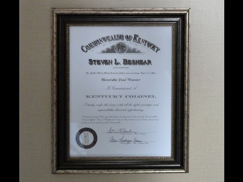 I am Officially a Kentucky Colonel