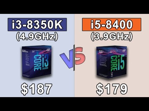i3 8350K (4.9GHz) vs i5 8400 (3.9GHz) | Which is a better value for money...???
