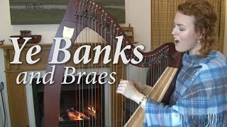 Ye Banks and Braes - voice & harp (Christy-Lyn)