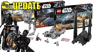 LEGO STAR WARS FULL ROGUE ONE OFFICIAL SET IMAGES NEWS UPDATE