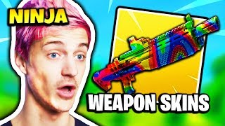 NINJA TALKS ABOUT WEAPON SKINS | Fortnite Daily Funny Moments Ep.163