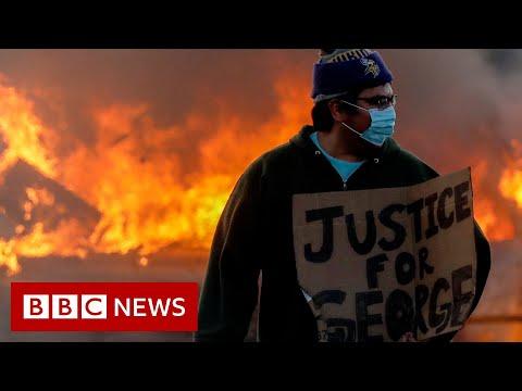 George Floyd: Clashes