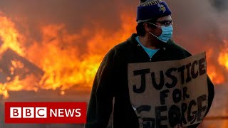 George Floyd: Clashes escalate after death of US man in custody - BBC News